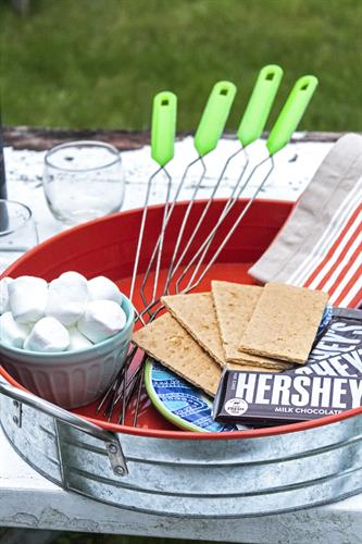 Vacation Property Staging ... Smores Anyone? Yes please!