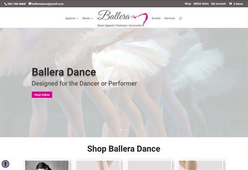 2021 Ballera Dance Ecommerce Redesign