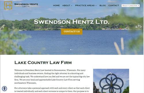 2021 Swendson Hentz Law Ltd. Website Redesign