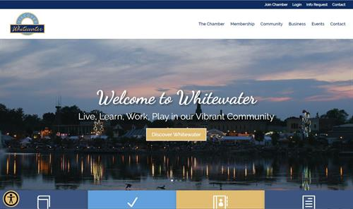 2020 Whitewater Chamber of Commerce Website Design