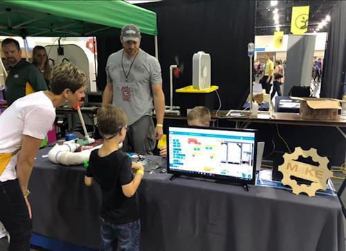 Maker's Fair Milwaukee ORLS booth