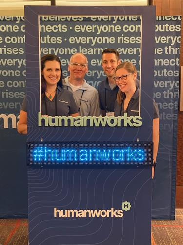 The humanworks team on launch day 2019