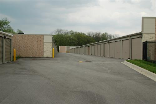 Wide drive aisles make it easy to access your unit.
