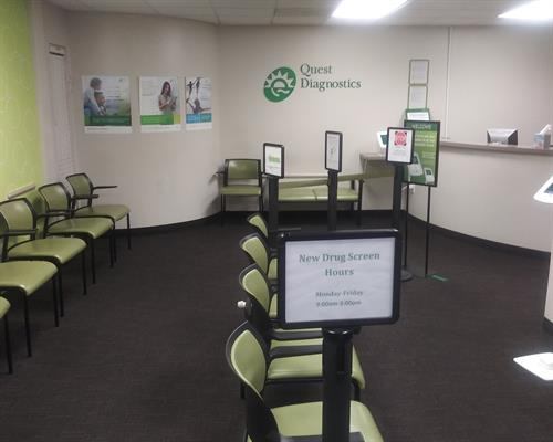 Quest Diagnostic Waiting Area