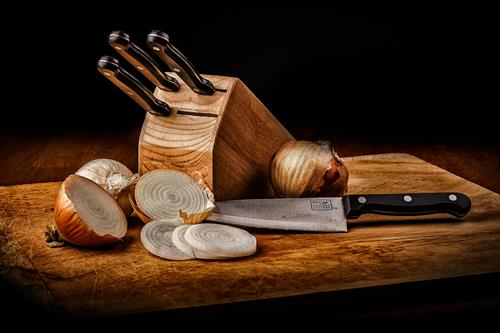 Knives and Onions. More examples of Still Life