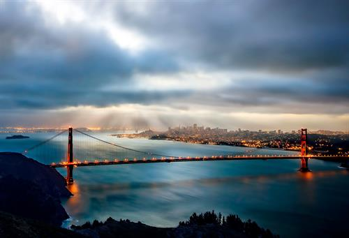 San Francisco Sunrise from Hawk Hill.