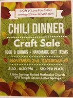 A GIFT OF LOVE SERVICES 1ST ANNUAL CHILI DINNER/CRAFT SALE