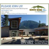Ribbon Cutting Ceremony, North Bend City Hall