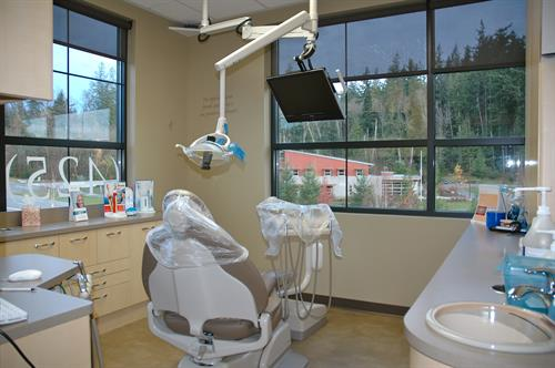 "Treatment area (one of our patients recently called this the ""cavity room"" :)"