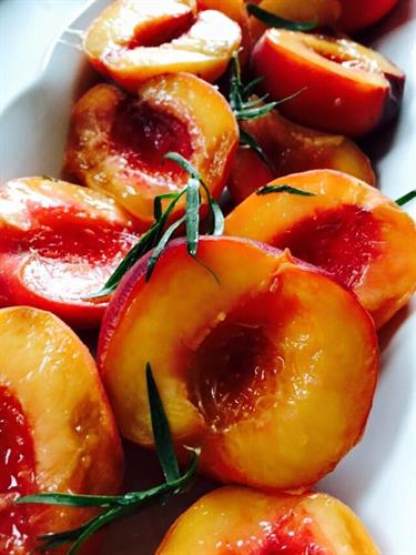 Rum-Soaked Peaches