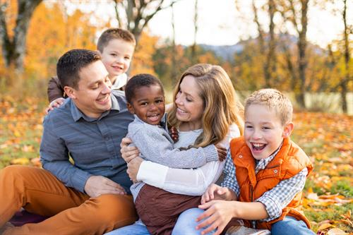 Family Photos in Fall Colors - North Bend
