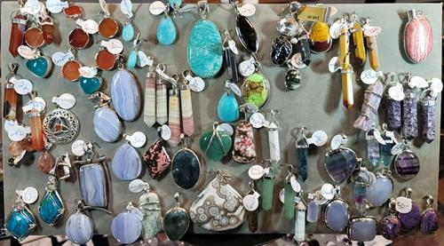 Blue Lace agate pendants and many more