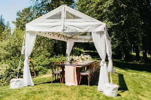 Reception Tent at Moon River Suites