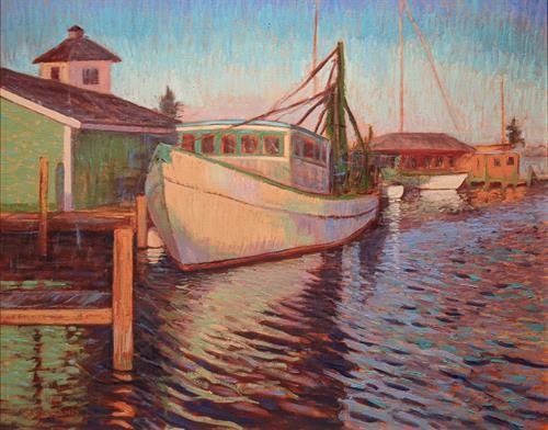 Fishing boat in Rockport Harbor
