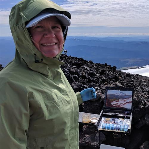 Painting on Mt. Adams