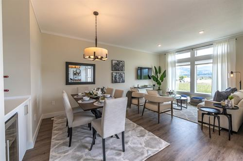 Oliver Heights - Show Home Dining Room & Living Room