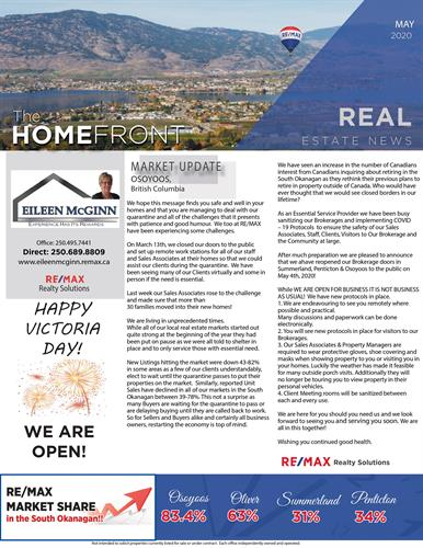 May 2020 Remax Newsletter Page 1