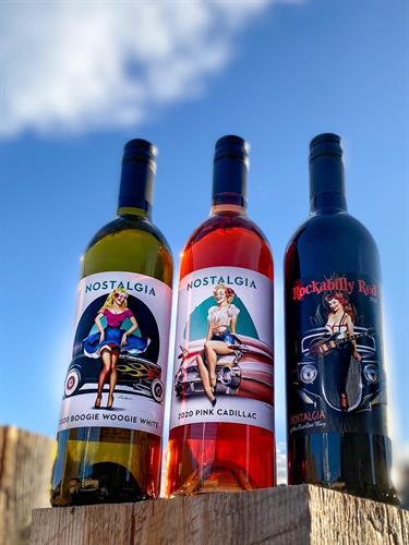 Nostalgia Wine Pin Up Series wines