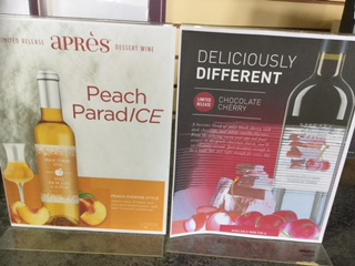Peach Ice Wine Style and Niagra Mist Chocolate Cherry is available in limited quantities.
