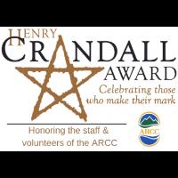 Crandall Public Library presenting Henry Crandall Award to ARCC