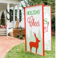 Consider making an oversized greeting card to decorate the community businesses and local organizations are being encouraged to create and display oversized christmas cards as part of that holiday season m4hsunfo