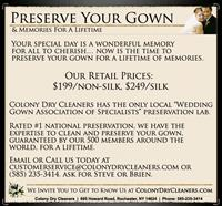Wedding Gown Preservation