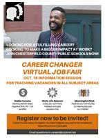 News Release: 9/16/2020 CCPS News Release: Career changer virtual job fair information session