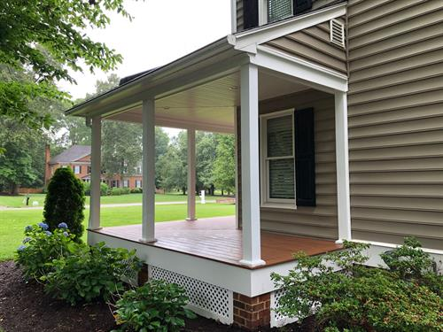 Front porch with Trex composite decking