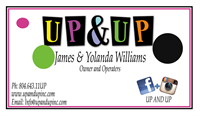 Up & Up Client Business Card