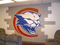 Columbus State Mascot Painted On Wall at School in Columbus, Ga