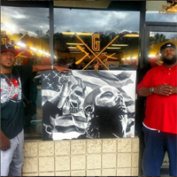 Painting of Celebrity Musician Killer Mike that was delivered to Killer Mike (pictured)