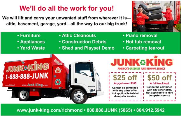 Junk King of Central Virginia | Junk Removal Services