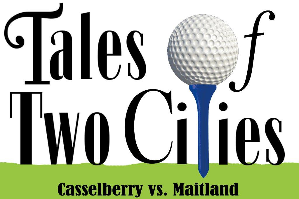 How do you determine who drives the golf cart at the Tale of Two Cities: Charity Golf Tournament?
