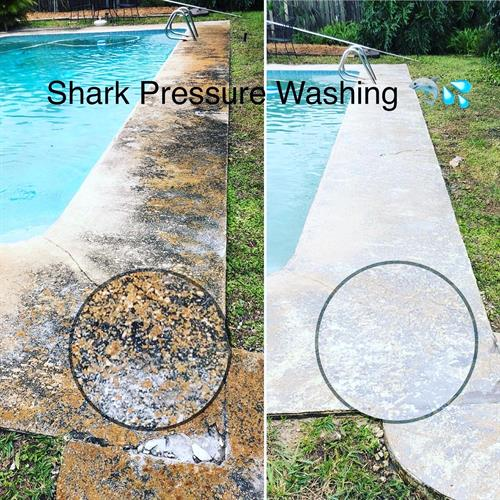 POOL DECK PRESSURE WASHED