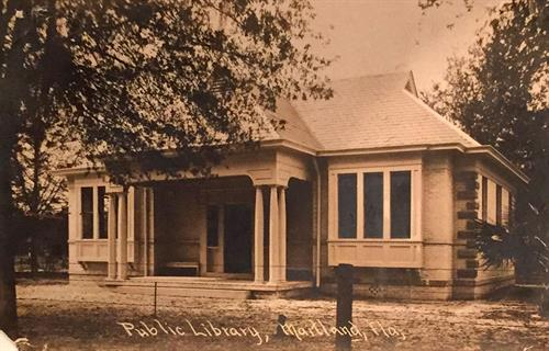 The original building of the Maitland Public Library