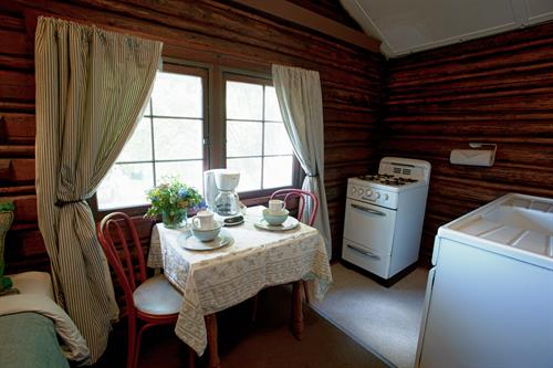 All cabins have full or partial kitchens