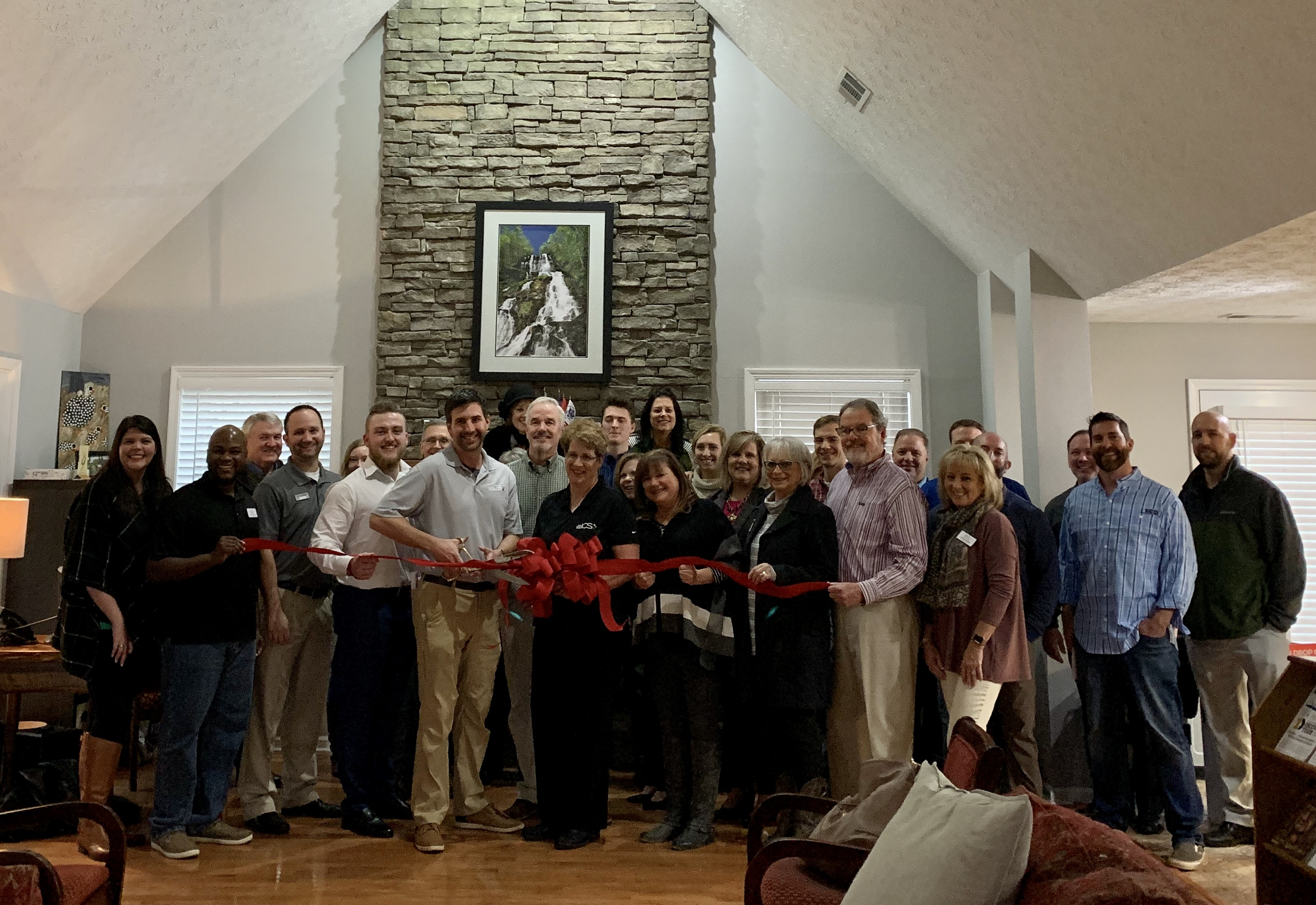 Ribbon cutting ceremony with Georgia Office Interiors