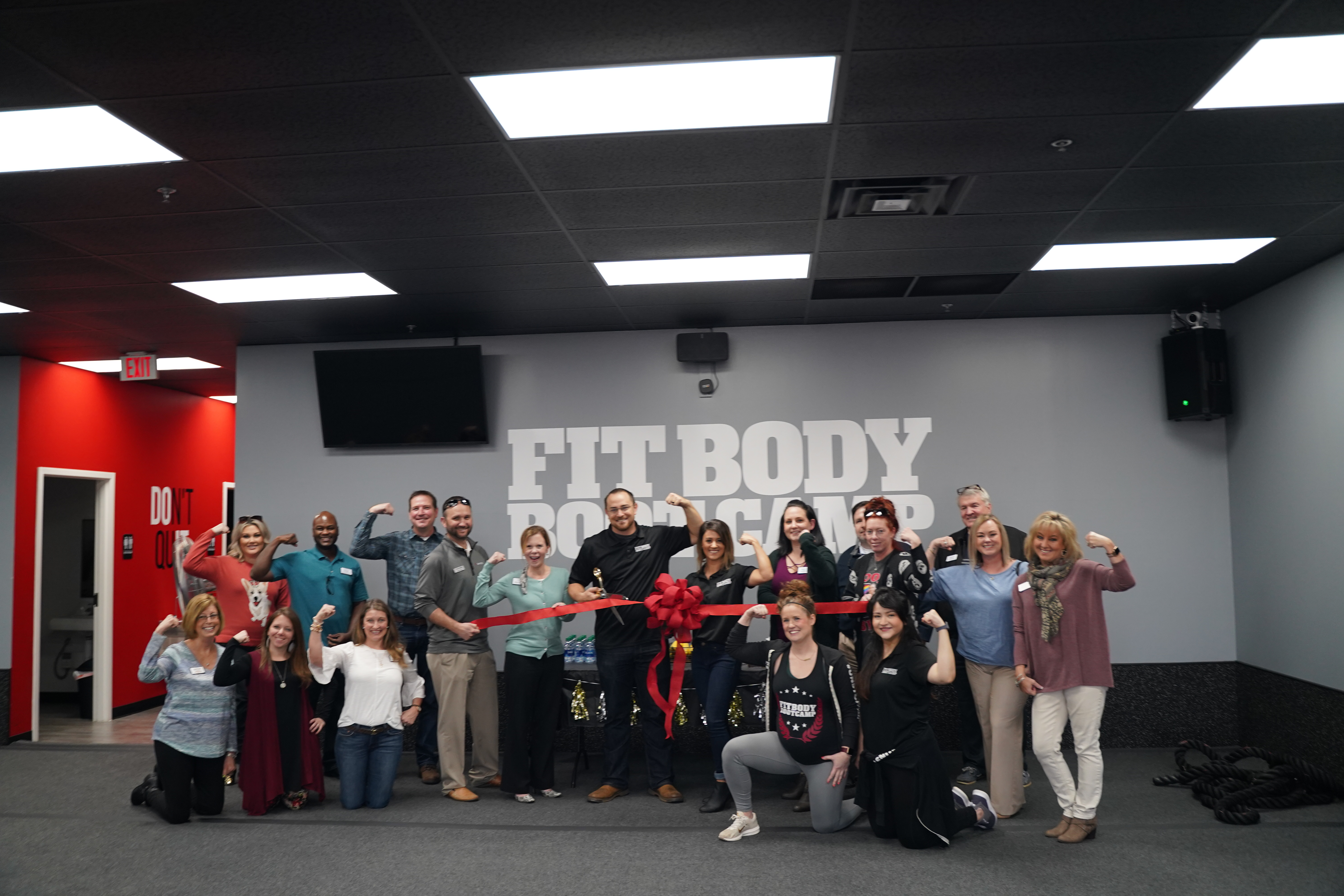 Ribbon cutting ceremony with Dawsonville Fit Body Boot Camp!