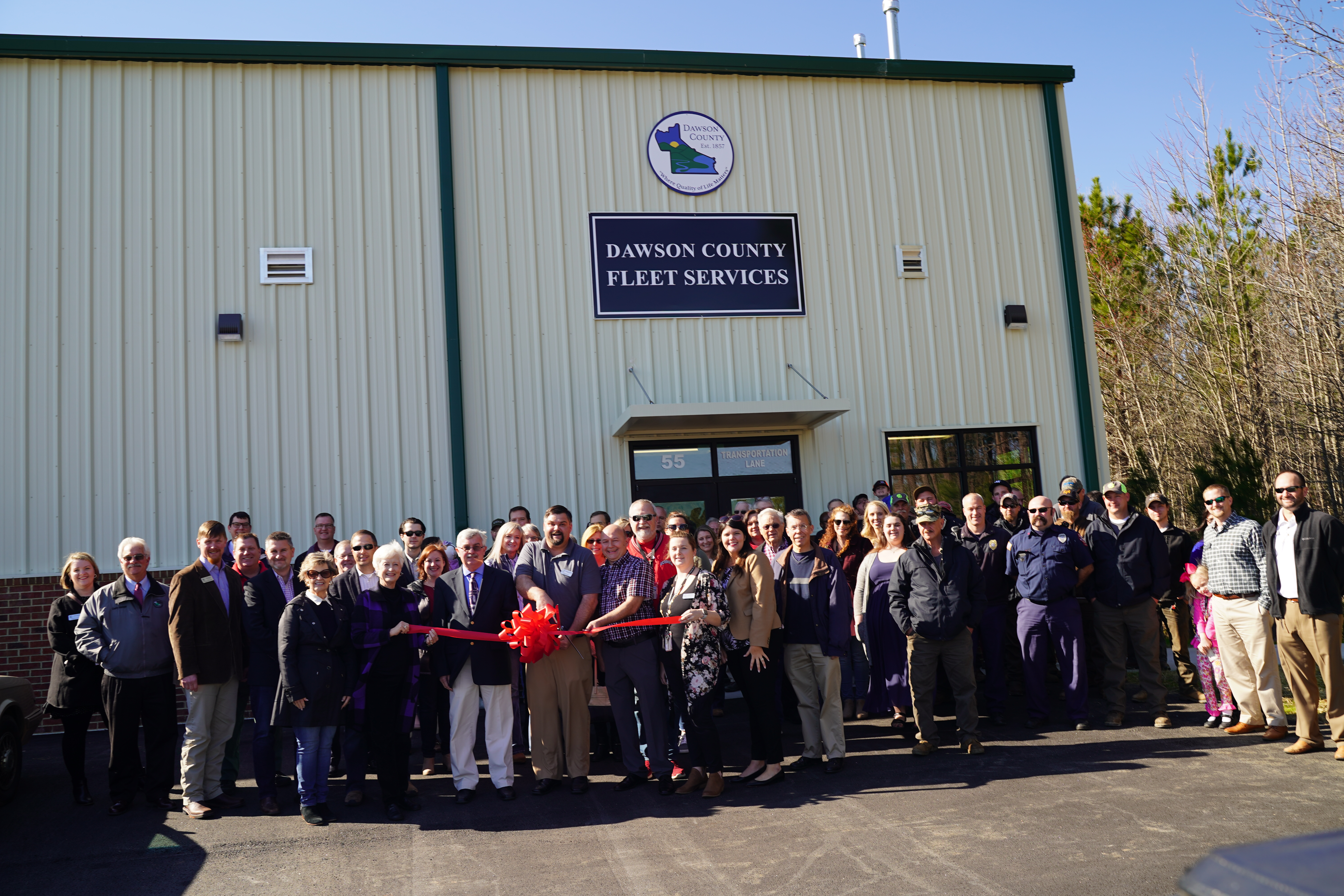 Image for Ribbon cutting ceremony with Dawson County Transportation Complex