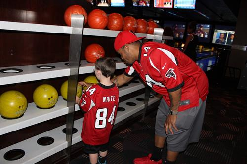 Bowling with the Falcons Event at Dave and Busters!!