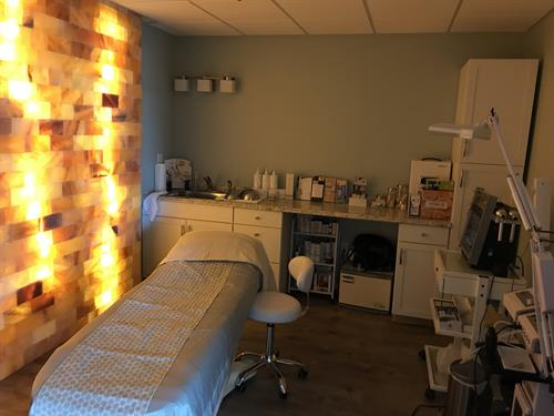 Esthetics Room - Facials, HydraFacials, Waxing, and Lash & Brow Tinting