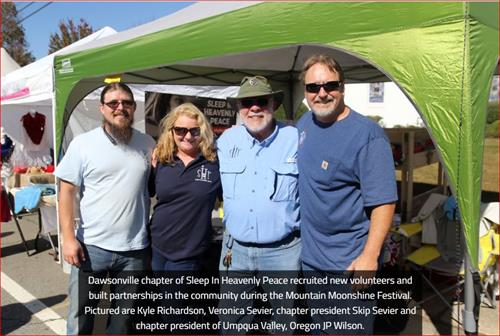 During Moonshine Days, president of an Oregon chapter came to visit! (Thank you Jessica Brown of the Dawson News!)
