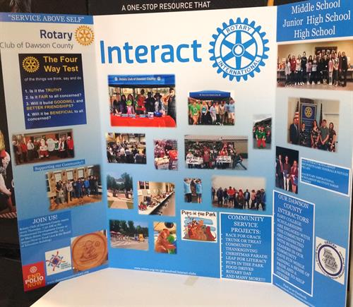 Rotary Meets Interact Club High School Meeting - Tri-fold Display