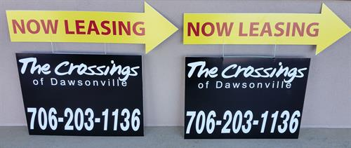 The Crossings of Dawsonville - Manufactured Specialty Yard Signs
