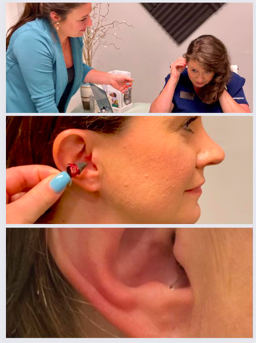 Trying on Signia Silk hearing aids
