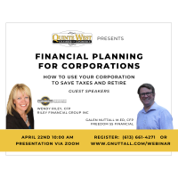 Financial Planning for Corporations 'How to use your corporation to save taxes and retire'