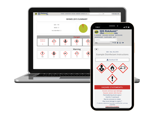 SDS RiskAssist on desktop or mobile - wherever your workers need it!