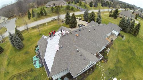New Roof Replacement on Custom Home