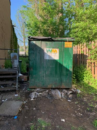 Outside of Dumpster Before Cleaning