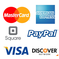 We accept these forms of payments and more!
